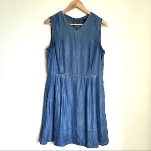 Gap blue chambray denim dress fall transitional 10